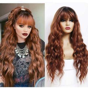 """Blooming Hair 24"""" Synthetic Fiber Bang Wig"""